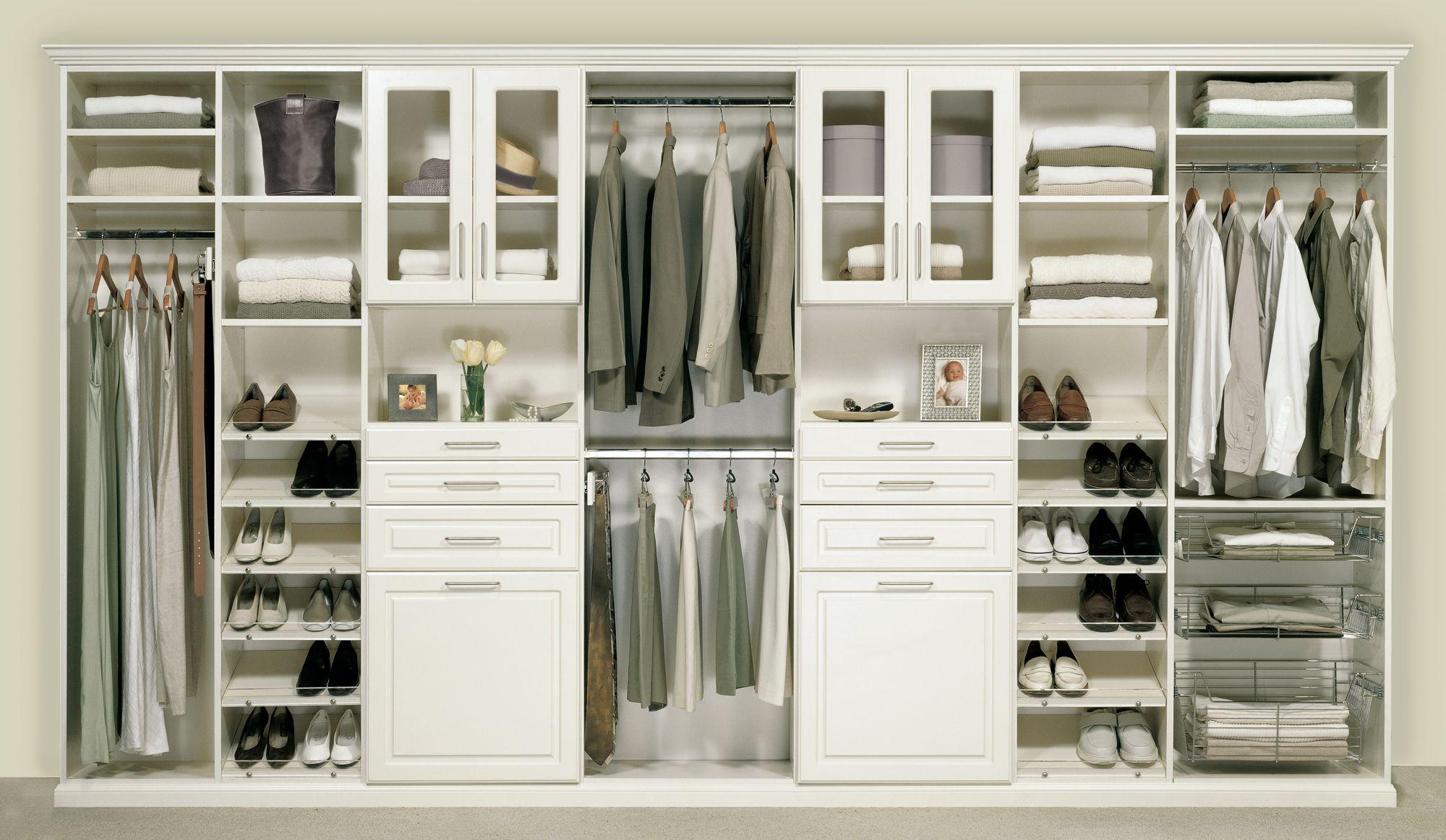 Gorgeous White Wardrobe Closet For Modern White Walk In