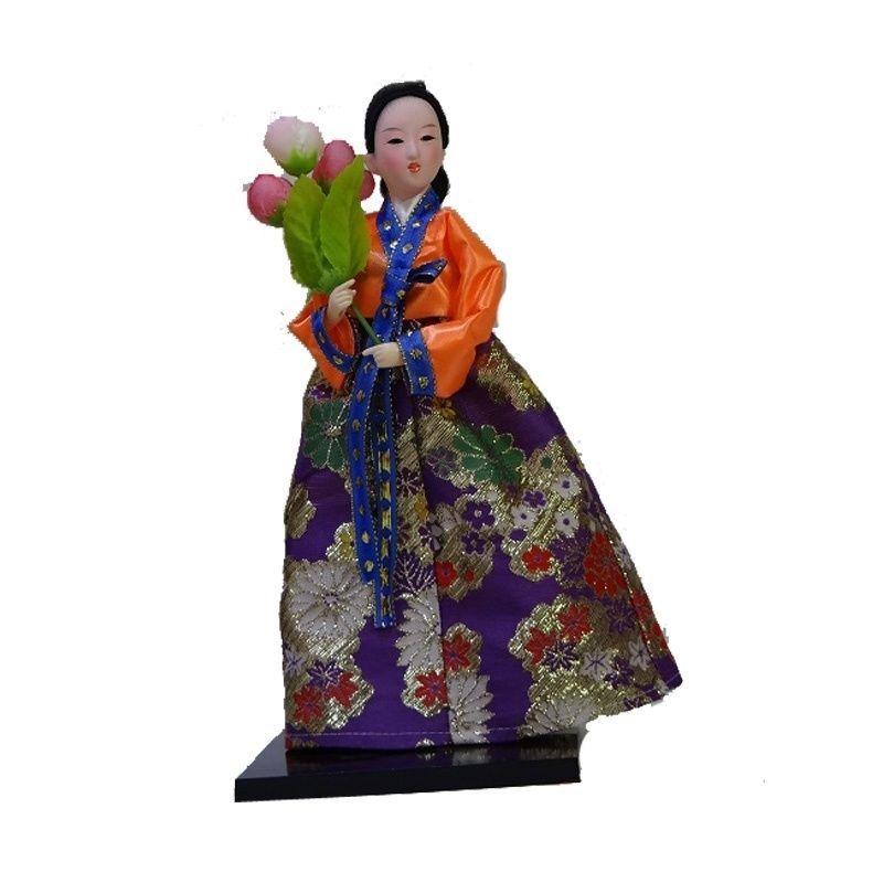 Vintage Koreans Silk Furnishings Court Dress Doll Beauty Home artistic decor