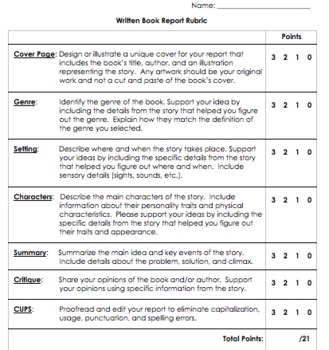 BOOK TALK RUBRIC EBOOK