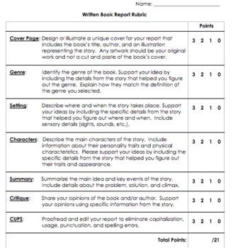 Written book reports