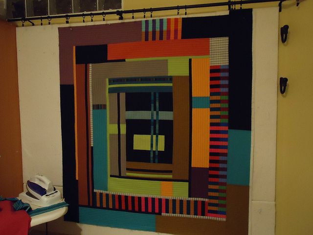 QAYG Log Cabin 2011 by MariQuilts, via Flickr