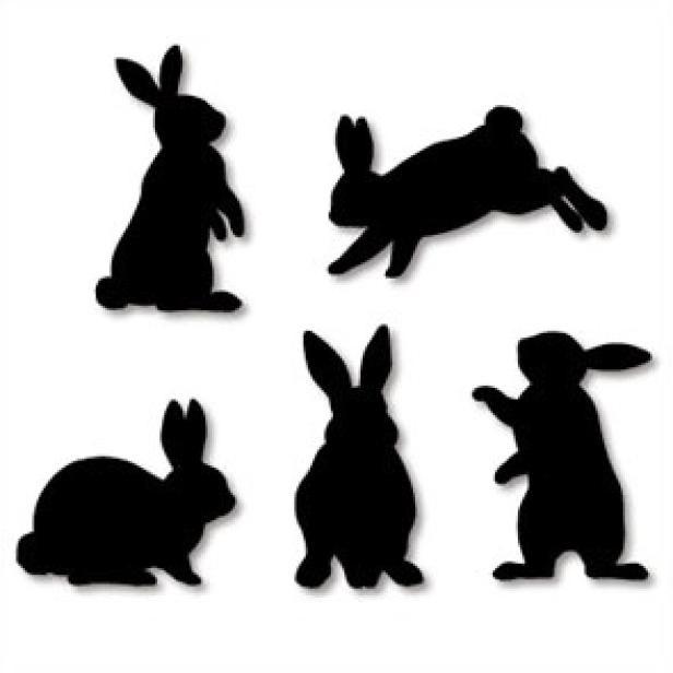 ウォールデコレーション ウサギ 黒 ホーム リビング