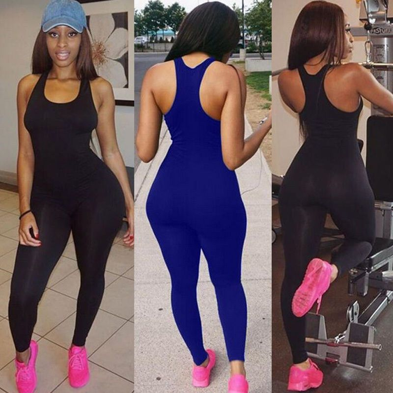 f3a5123816 Women s Sports YOGA Workout Gym Fitness Leggings Pants Jumpsuit Bodysuit  Rompers