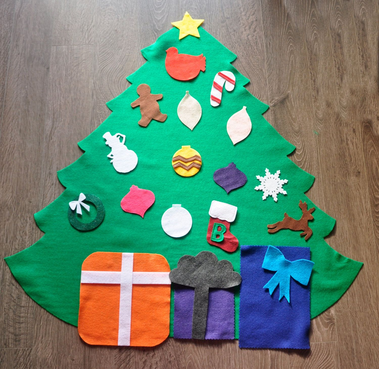 preorder felt christmas tree for children by homemadeholidayfelt