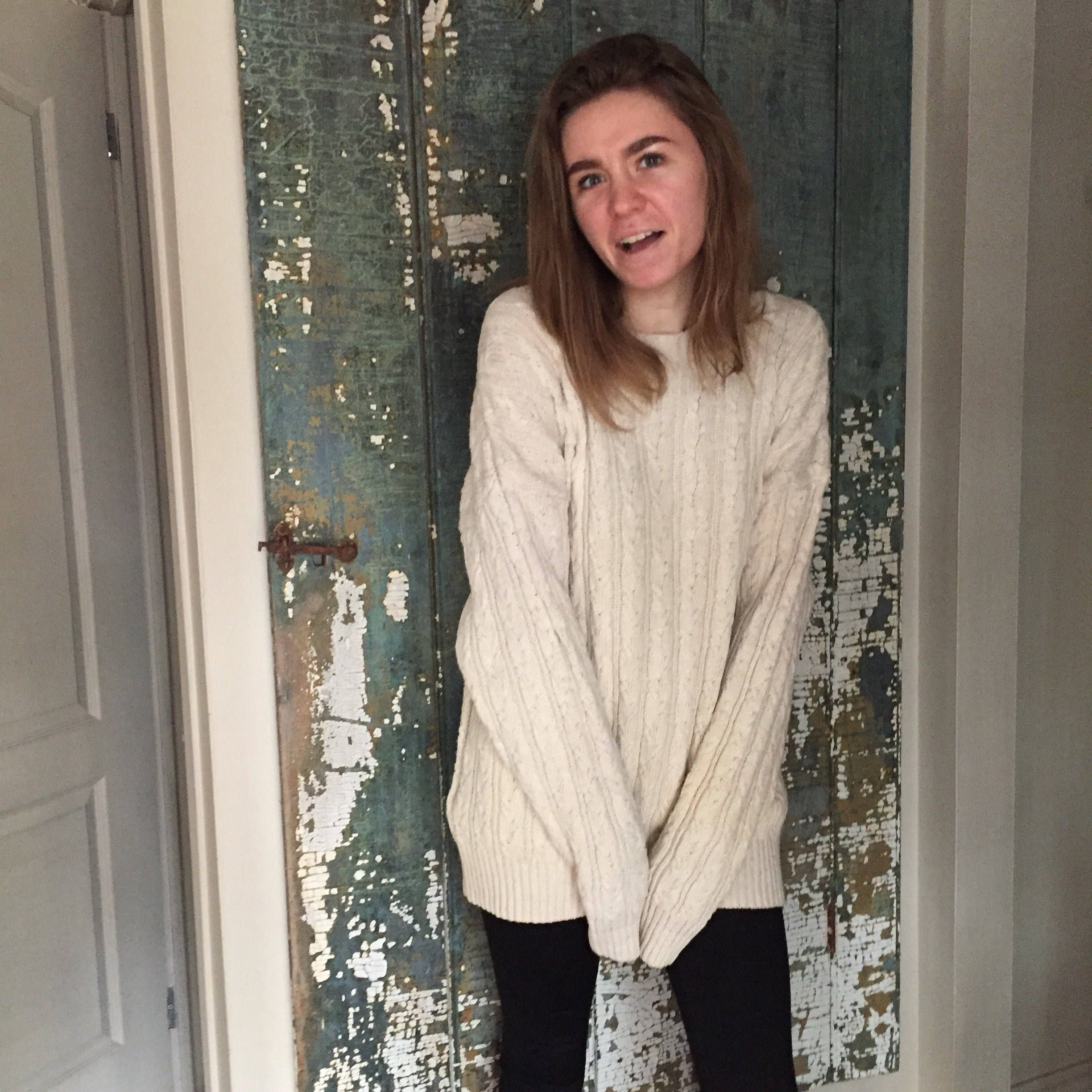 Oversize Cotton Boyfriend Sweater | Hipster Style Cable Knit ...