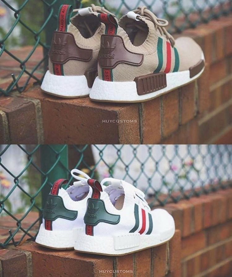 9ceb8211fa5d4 Classic Gucci inspired Adidas NMD. ,Adidas Shoes Online, adidas  shoes Mens  New Years Eve Outfit