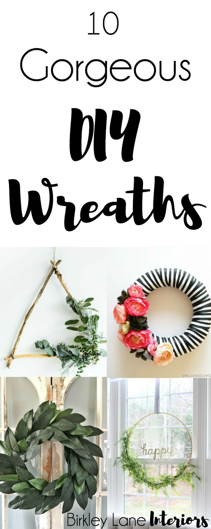 10 Gorgeous DIY Wreaths | wreaths | Pinterest | Casitas, Patrón de ...