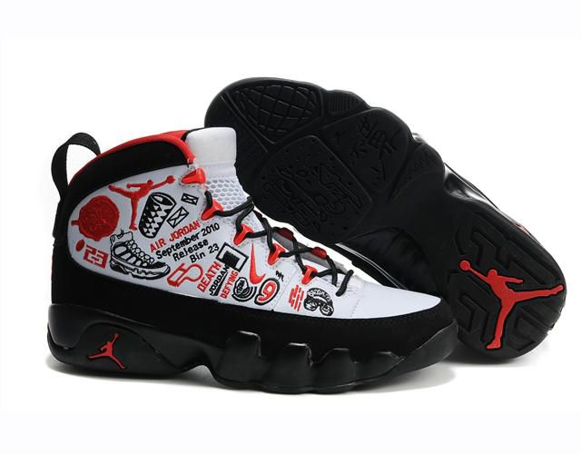 los angeles d225f 03b0d Nike Air Jordan Retro 9 | Nike Air Jordan 9 White Black Red ...