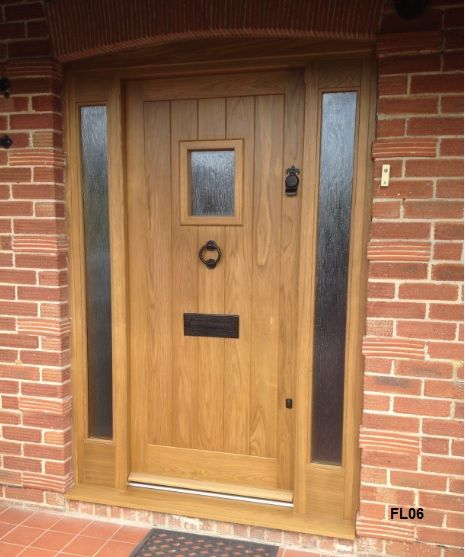 Cottage style doors from oak and other hardwoods painted for Cottage style front doors