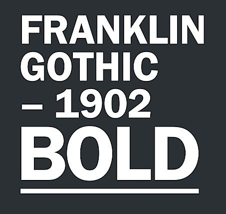 The 10 Best Fonts Cool Fonts Franklin Gothic Gothic Words