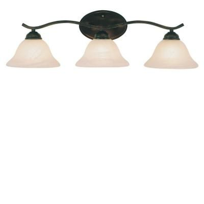 Hampton Bay Andenne 3-Light Oil Rubbed Bronze Bath Vanity Light