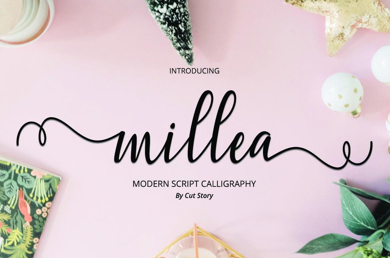 Millea Script In 2020 Free Calligraphy Fonts Lettering Tutorial Fonts Hand Lettering Tutorial