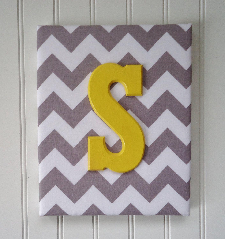 Nursery Decor, Upholstered Letters, Nursery Letters, Wooden Letters ...