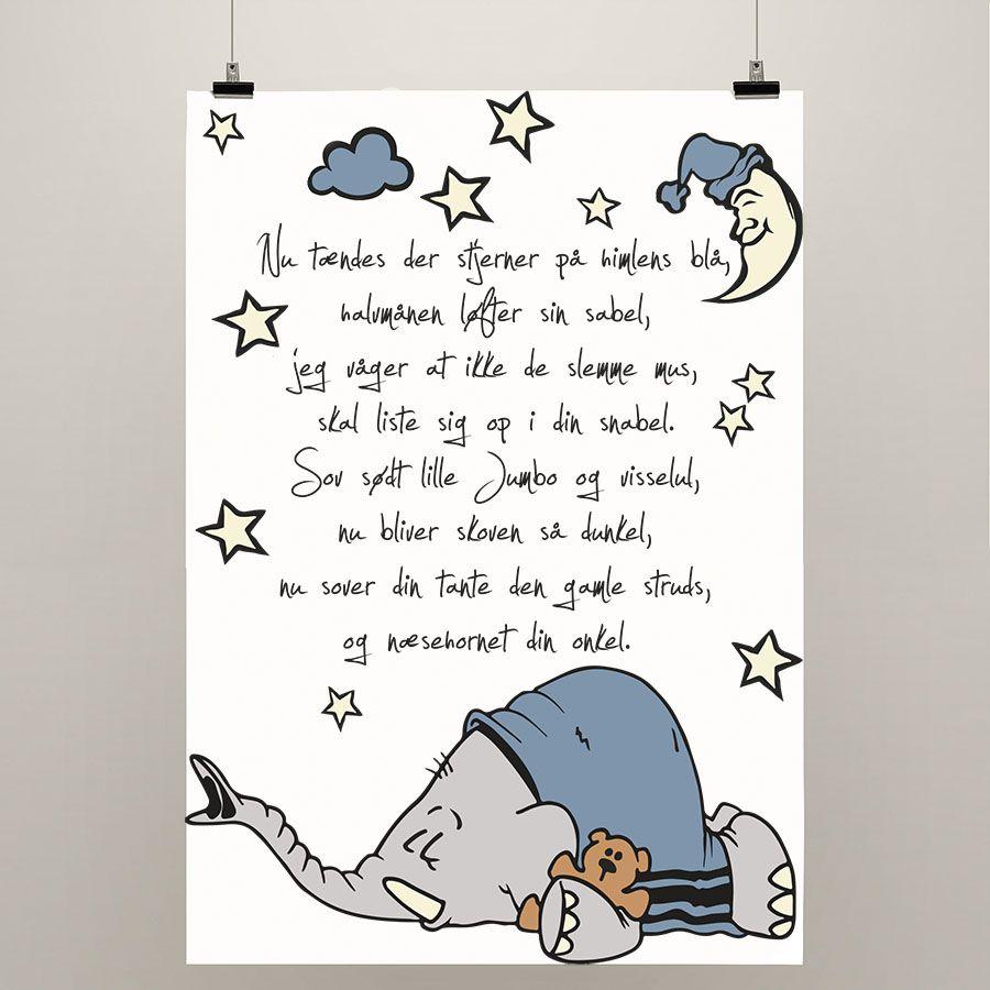 Plakat Elefantens Vuggevise Sjove Babyer