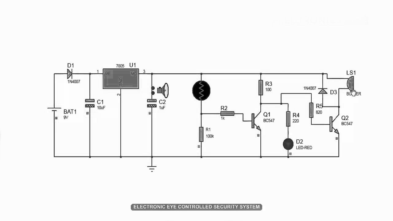 How To Build Electronic Eye Controlled Security System And Its Simple Preamplifier With Transistors Bc547 Eyecontrolledsecuritysystem Which Is Used For Where The Needed Like Homes Malls Banks Etc Electricalprojects Edgefxkits