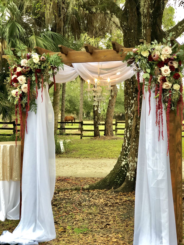 Romantic Burgundy Blush Arbor Wedding Arbor Decorations Wedding Arch Wedding Arbors