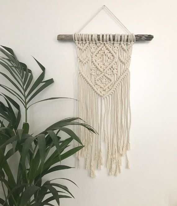 macrame wall hanging tenture murale suspension en macram d coration boh me d corations. Black Bedroom Furniture Sets. Home Design Ideas