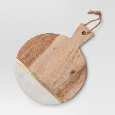 Marble And Wood Cheese Cutting Board Small Brown Project 62