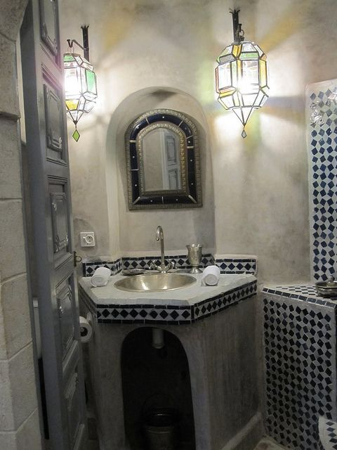 ZILLIJ Moroccan Mosaic Tile Designs Moroccan tile bathroom