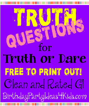Truth and dare game questions