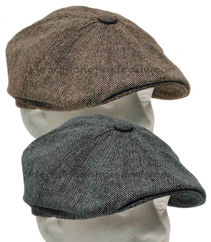 59f904319cd Tweed Gatsby Newsboy Cap Men Ivy Hat Wool Golf Driving Flat Cabbie s m l xl  xxl  TweedNewsboyCap