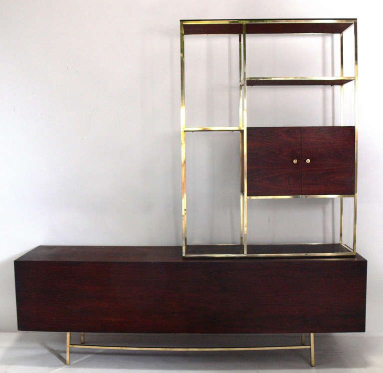 Modern Etagere and Credenza in the manner of Paul McCobb | From a unique collection of antique and modern shelves at http://www.1stdibs.com/furniture/storage-case-pieces/shelves/