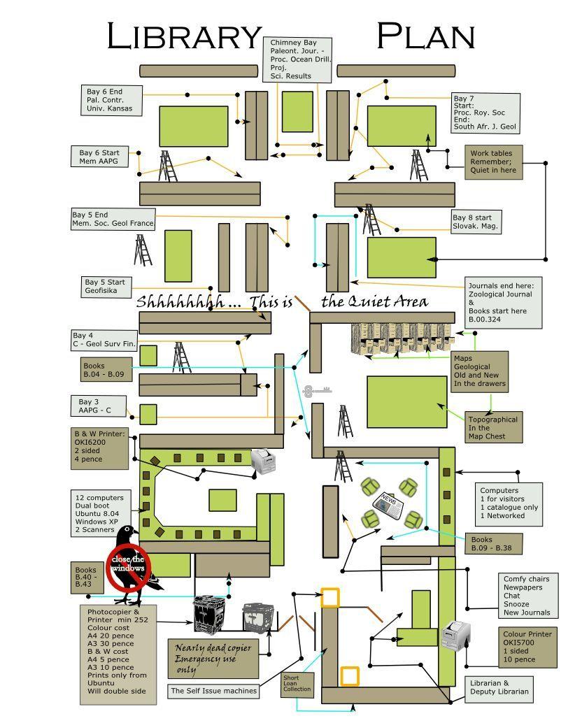 Design Science Journal Cambridge: Library Floor Plan Cambridge Earth Sciences
