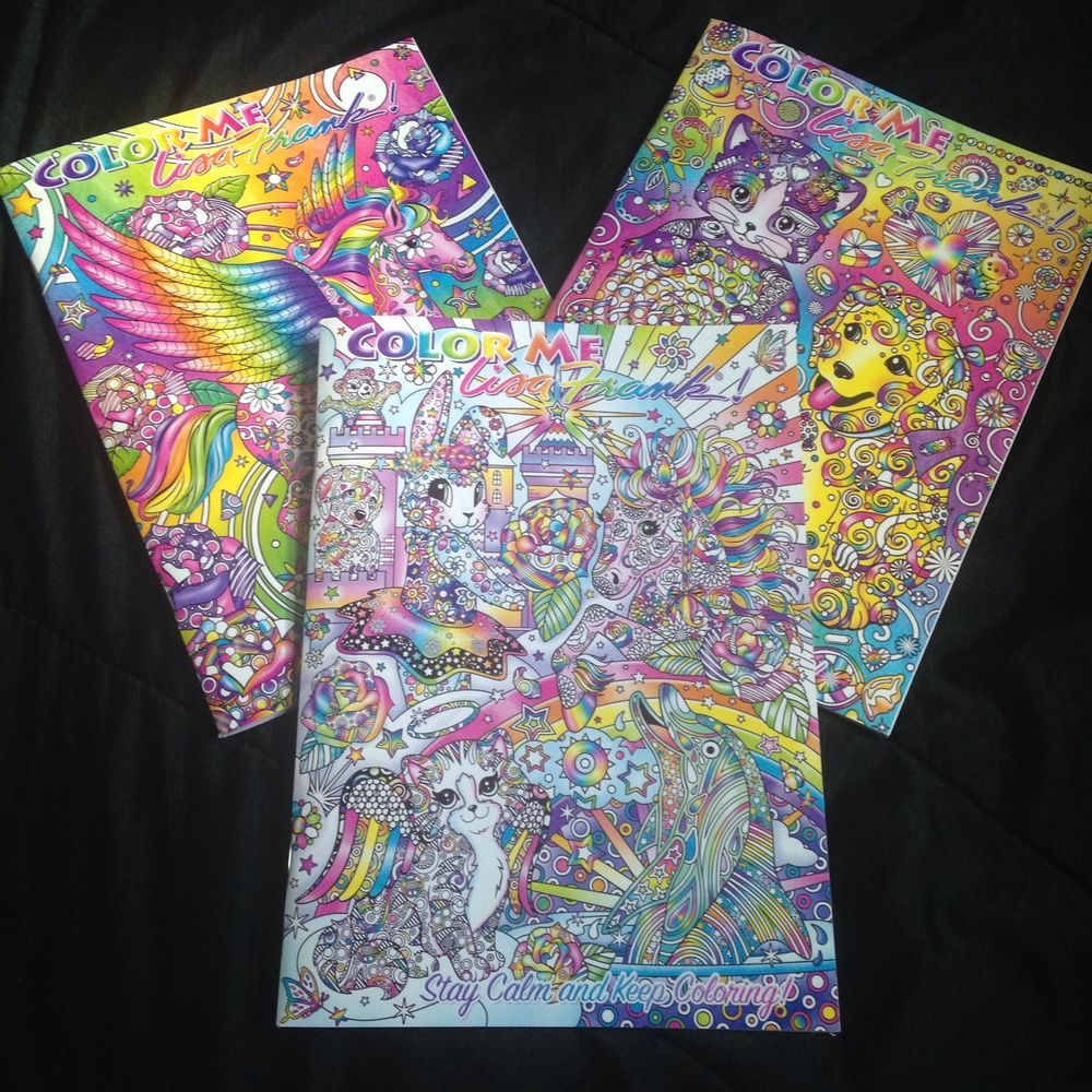 Adult coloring books ebay - 3 New Color Me Lisa Frank Adult Coloring Books Book Color 2016 Stay Calm