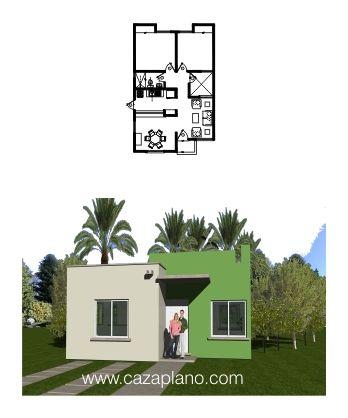 Vivienda infonavit coral planos arquitect nicos en 2019 for Fachadas de casas modernas de interes social