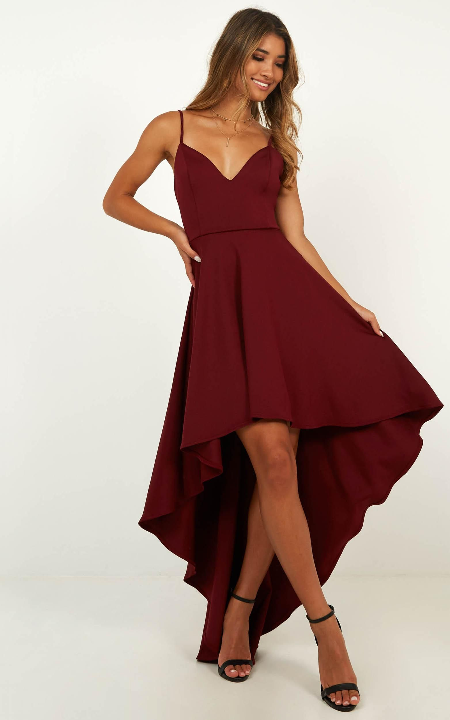 Making Fun Dress In Wine Produced By Showpo Formal Dresses Dresses Formal Occasion Dress [ 2500 x 1563 Pixel ]