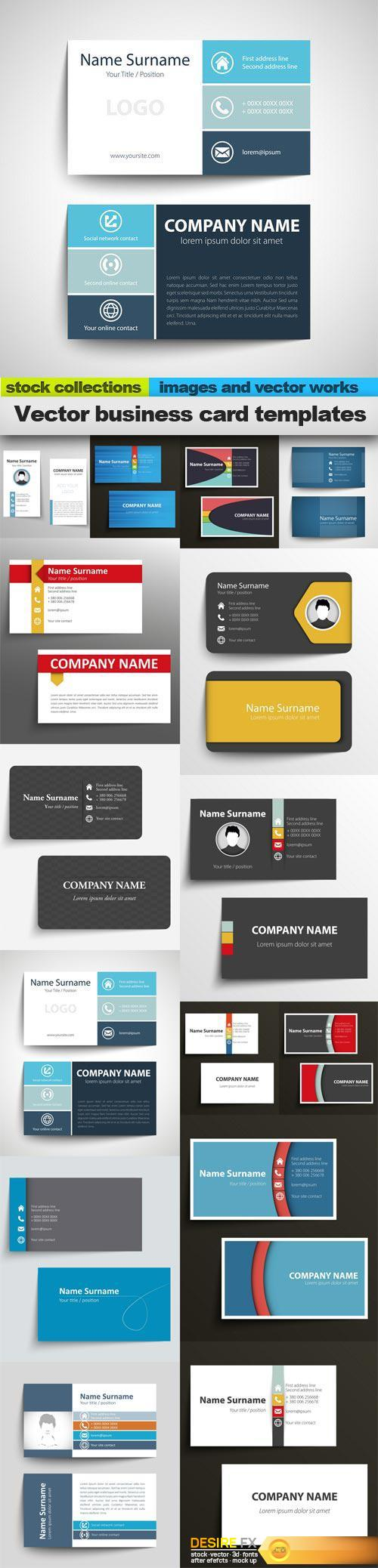 Vector business card templates 15 x eps httpdesirefx vector business card templates 15 x eps httpdesirefx fbccfo Choice Image