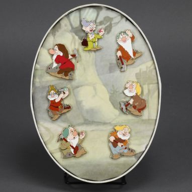 Snow White Pin Set featuring the Seven Dwarfs