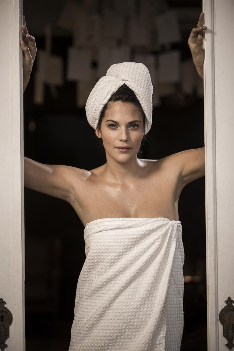 Waffle Luxe Hair Towel