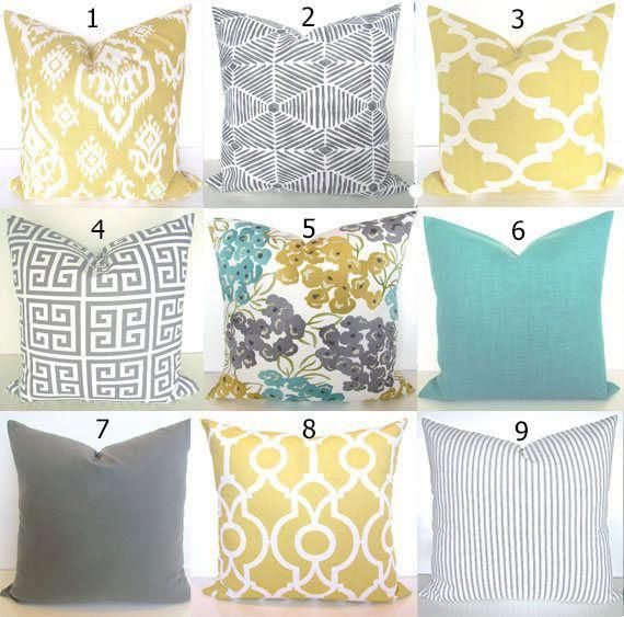 Turquoise Pillows Teal Decorative Pillow Covers Gray Pillows