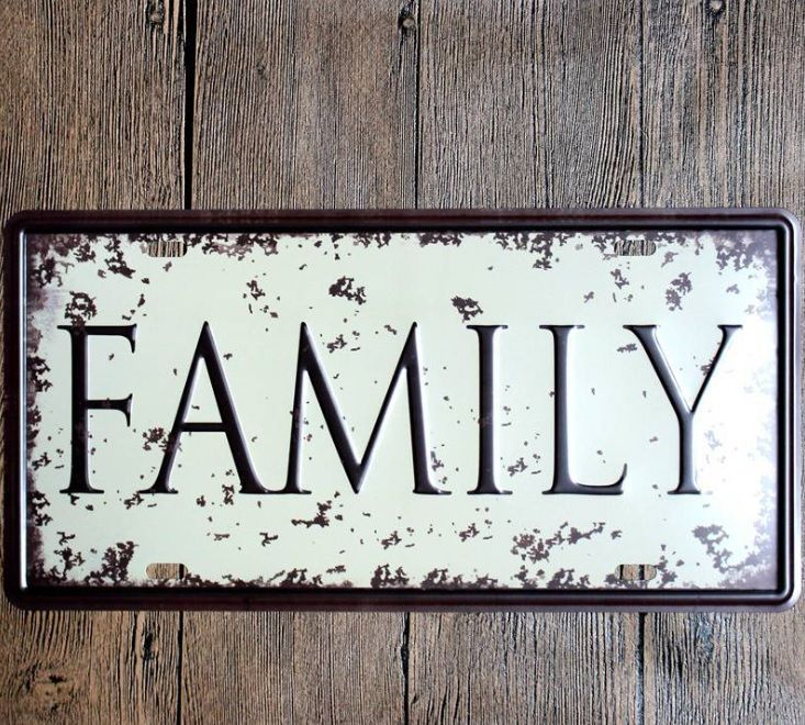 Free shipping 1pc Family Tin plate commercial vintage tin Sign Bar Pub Home room shop decor garage Metal Poster wall  WHOLESALE