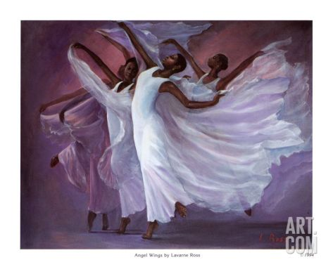 Angel Wings Print by Laverne Ross at Art.com