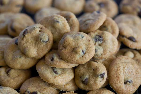 Crispy Mini Chocolate Chip Cookies from Cookie Madness ...