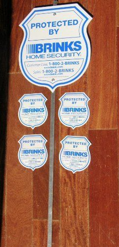 Brinks Home Security Alarm System Yard Sign Brinks Decals By - Window decals for home security