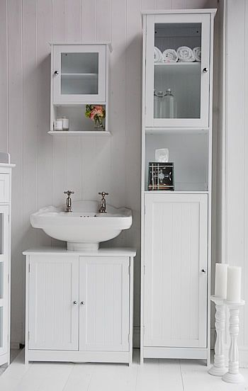 White Freestanding tall bathroom cabinet (not nz) | Bathroom ...