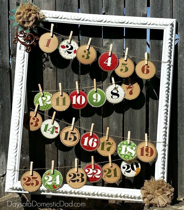 Holiday Advent Calendar Frame - craft with #ArrowFastener   Frame ...