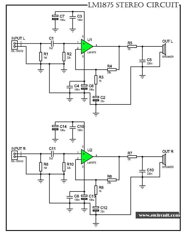 Stereo Gainclone Power Amplifier LM1875