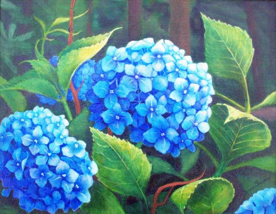 Your Place To Buy And Sell All Things Handmade Flower Painting Acrylic Flowers Hydrangea Painting