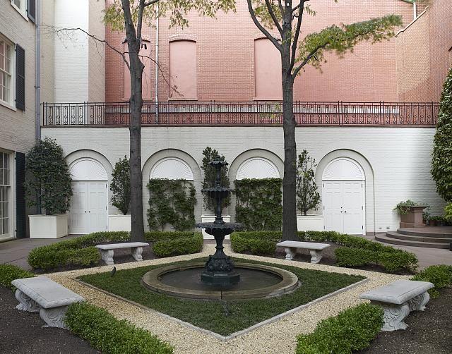 Arthur and Janet Ross garden, Blair House, located across