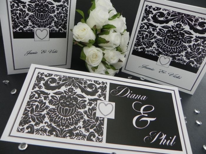 This Fantastic Black Damask Designer Invitations Stationery Will Become A Cherished Memento Of Your Wedding Day