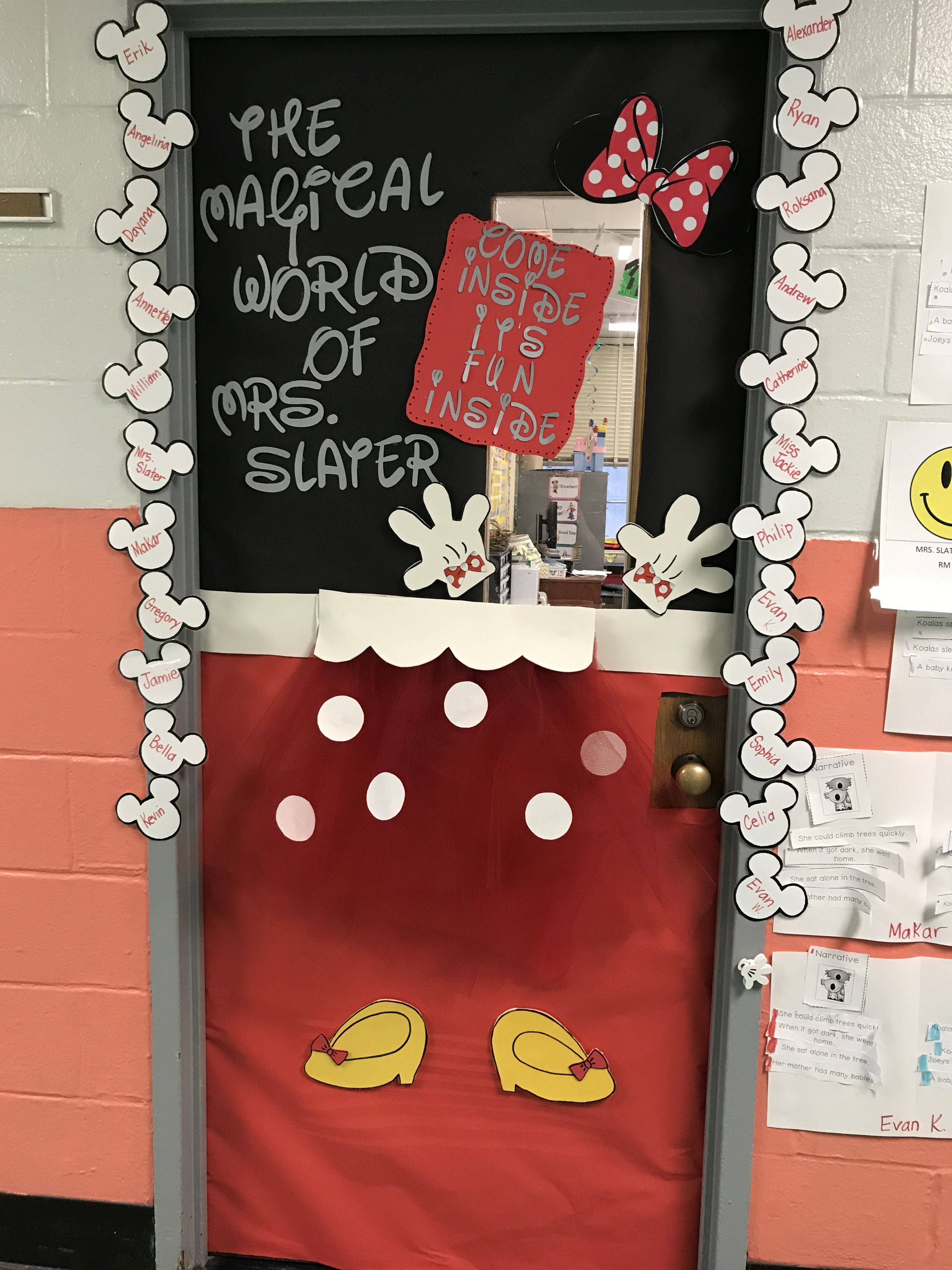 Minnie Mouse Classroom Door