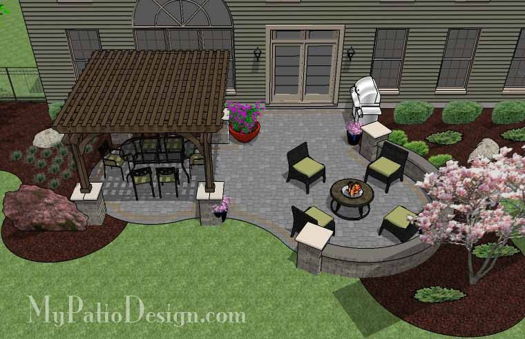 curvy, shady and fun! with colorful pavers, the beautiful patio ... - Design My Patio