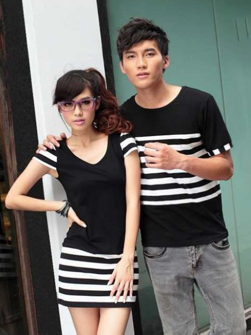 0461060927 Color matching couple shirts | Couple shirts | Outfits, Couple ...