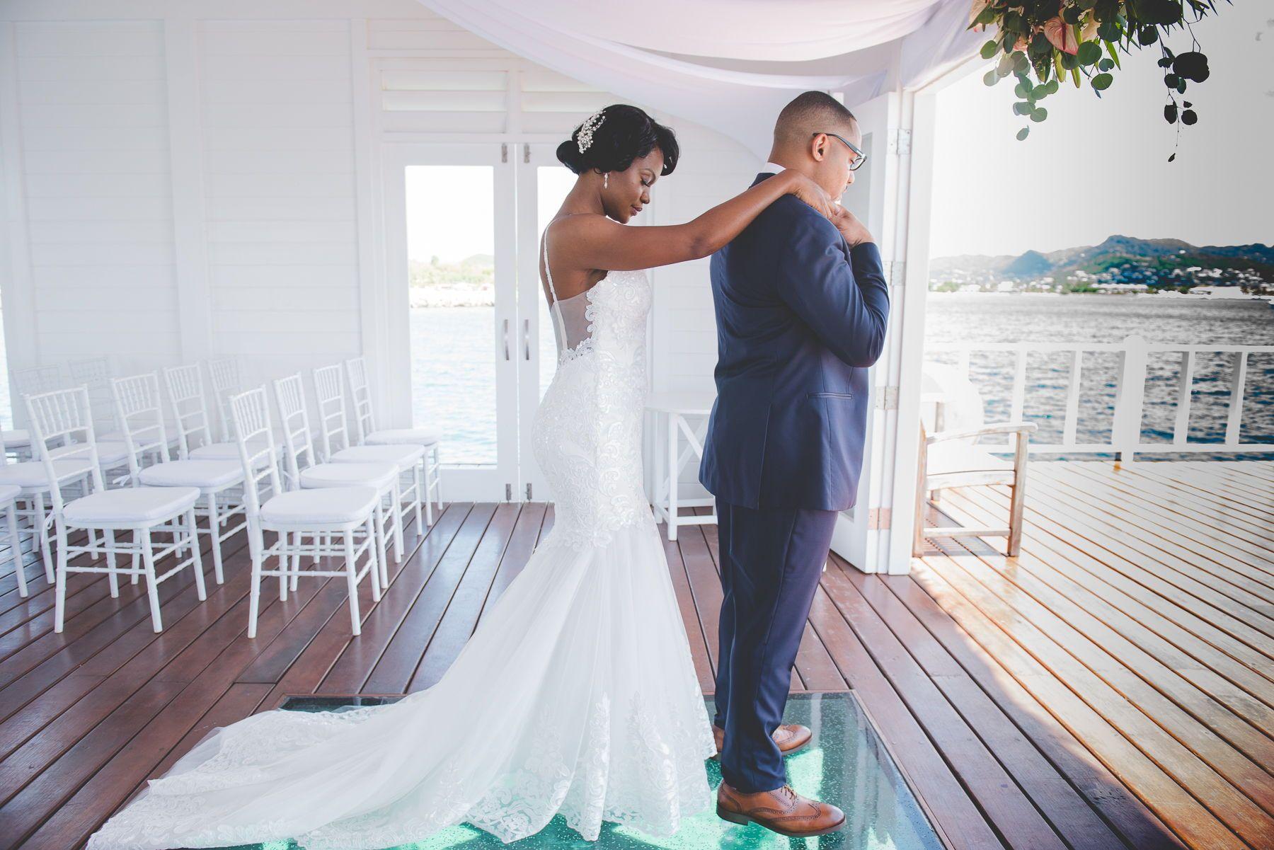 Cyndie allens sandals grande st lucia wedding