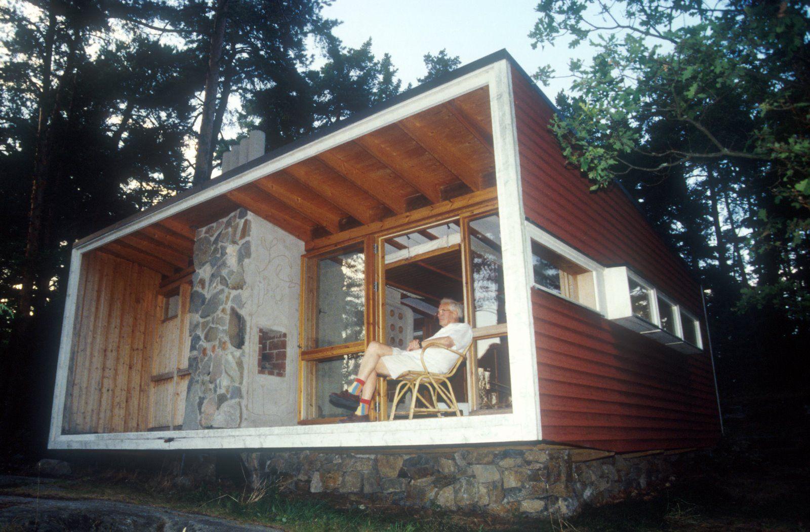 arquitectoortiz: The Box-Ralph Erskine-. | Casas, Casas de playa modernas,  Construccion de cabañas