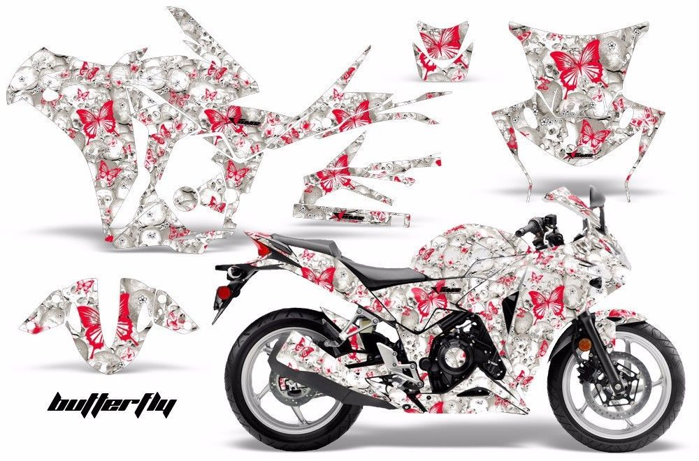 Amr Racing Graphic Kit Wrap Part Honda Cbr250r Street Bike Cbr